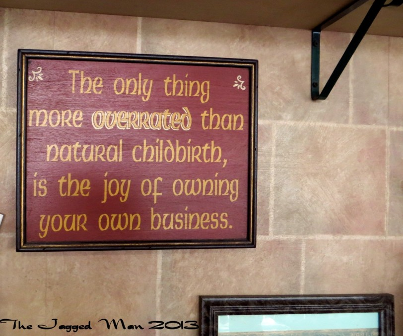 Next we headed to a local eatery for breakfast. The owner has a sense of humor as you can see.