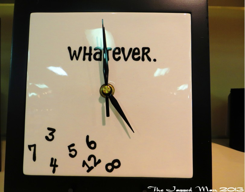 There was no set time or schedule so this clock fit the spirit of the day nicely!