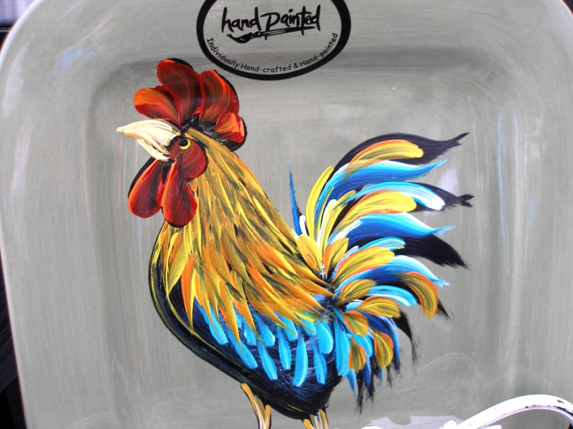 Nice shot of a Rooster by Chicken Coop Art.